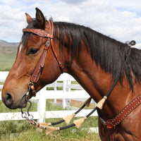 Black Roping Rein with Horsehair