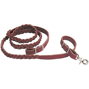 Braided Latigo Leather Roper Rein