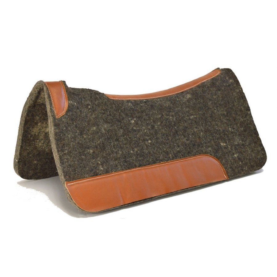 Wool Felt Pad with Oil Retan Leather