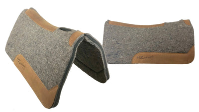 Colorado Saddlery Shock Absorbing Neoprene & 100% Pressed Wool Saddle Pad by HZ Cattle Company