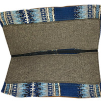 Spine Relief Contour Blanket Woven Blanket Saddle Pad with 100% Pressed Wool Bottom