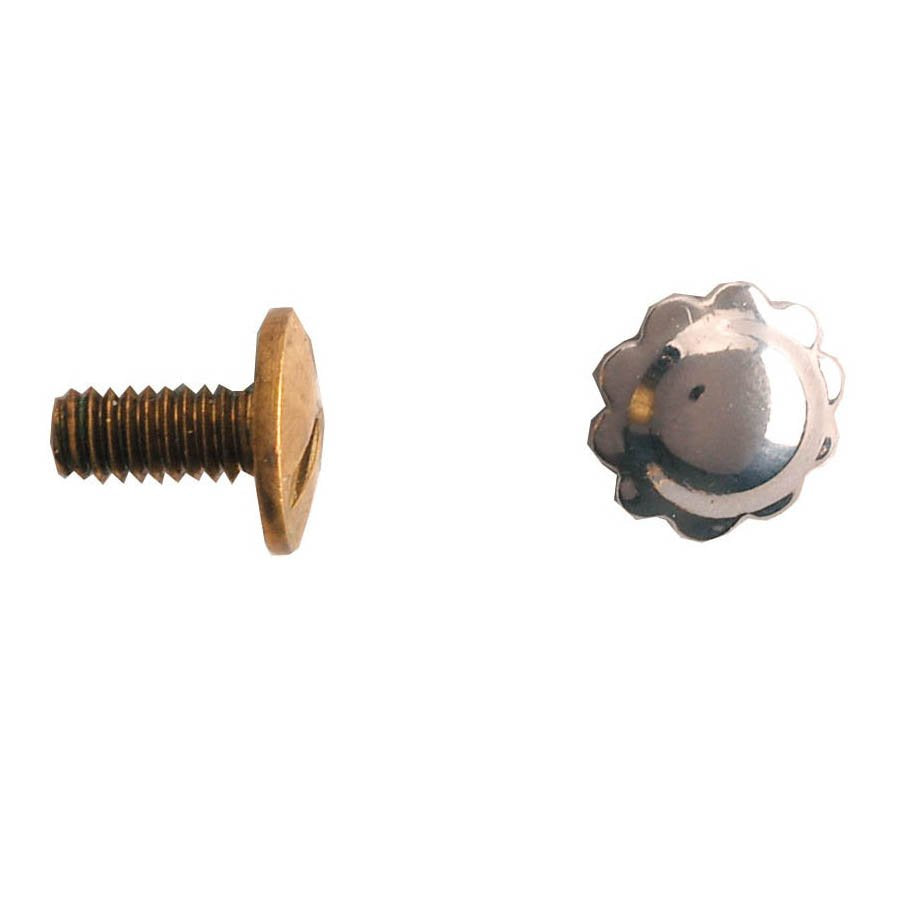 Nickel Silver Screw Back Spots