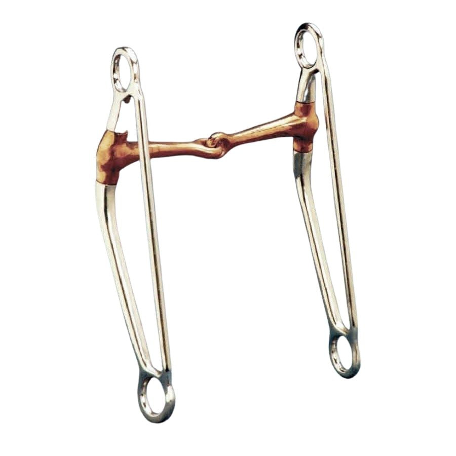 Long Shank Snaffle with Copper Mouth