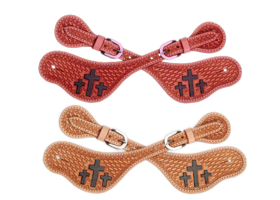 Trinity Cross Kids Spur Straps
