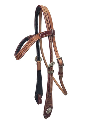 Floral Tooled Headstall
