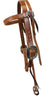 "Pro Series 1 5/8"" Old World Harness Browband Headstall"