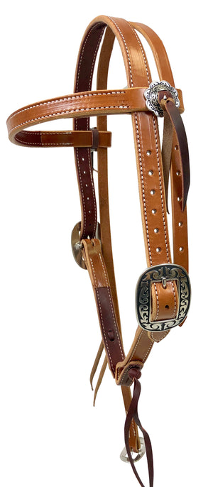 Pro Series Double and Stitched Extra Heavy Harness Browband Headstall