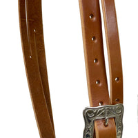 "Pro Series 1 5/8"" Extra Heavy Harness Slit Ear Headstall with Classic Hardware"