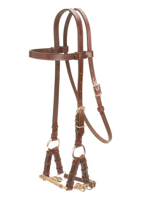 Head stall with Braided Nose Side pull