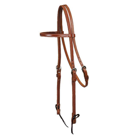 """Colorado Oiled"" Skirting Browband Headstall"