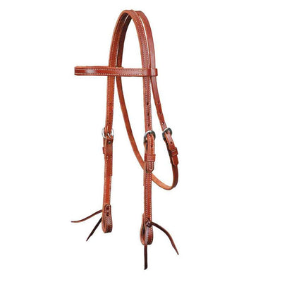 Mahogany Leather Headstall