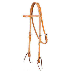 """Colorado Gold"" Skirting Browband Headstall"