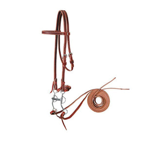 Browband Bridle with Tom Thumb Bit Set