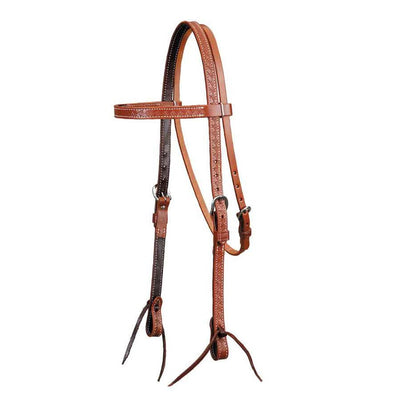 Colorado Brown Basket Stamped Headstall