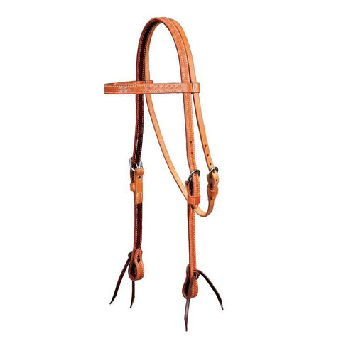 """Colorado Gold"" Basket Stamped Headstall"