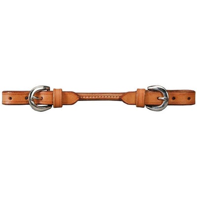 Round Leather Curb Strap