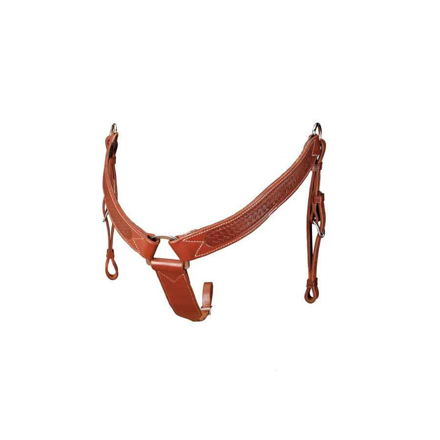 Colorado Brown Basket Stamped Breast Collar