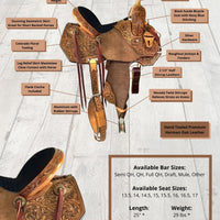 Golden Prize Barrel Saddle