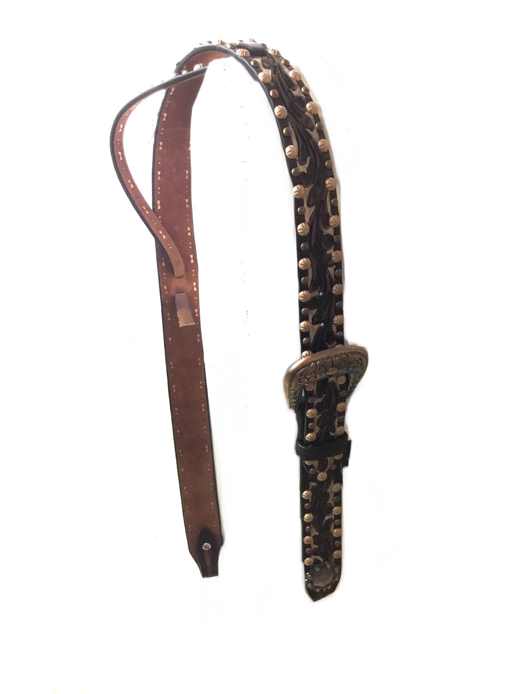 Tri Colored Adjustable Belt Headstall