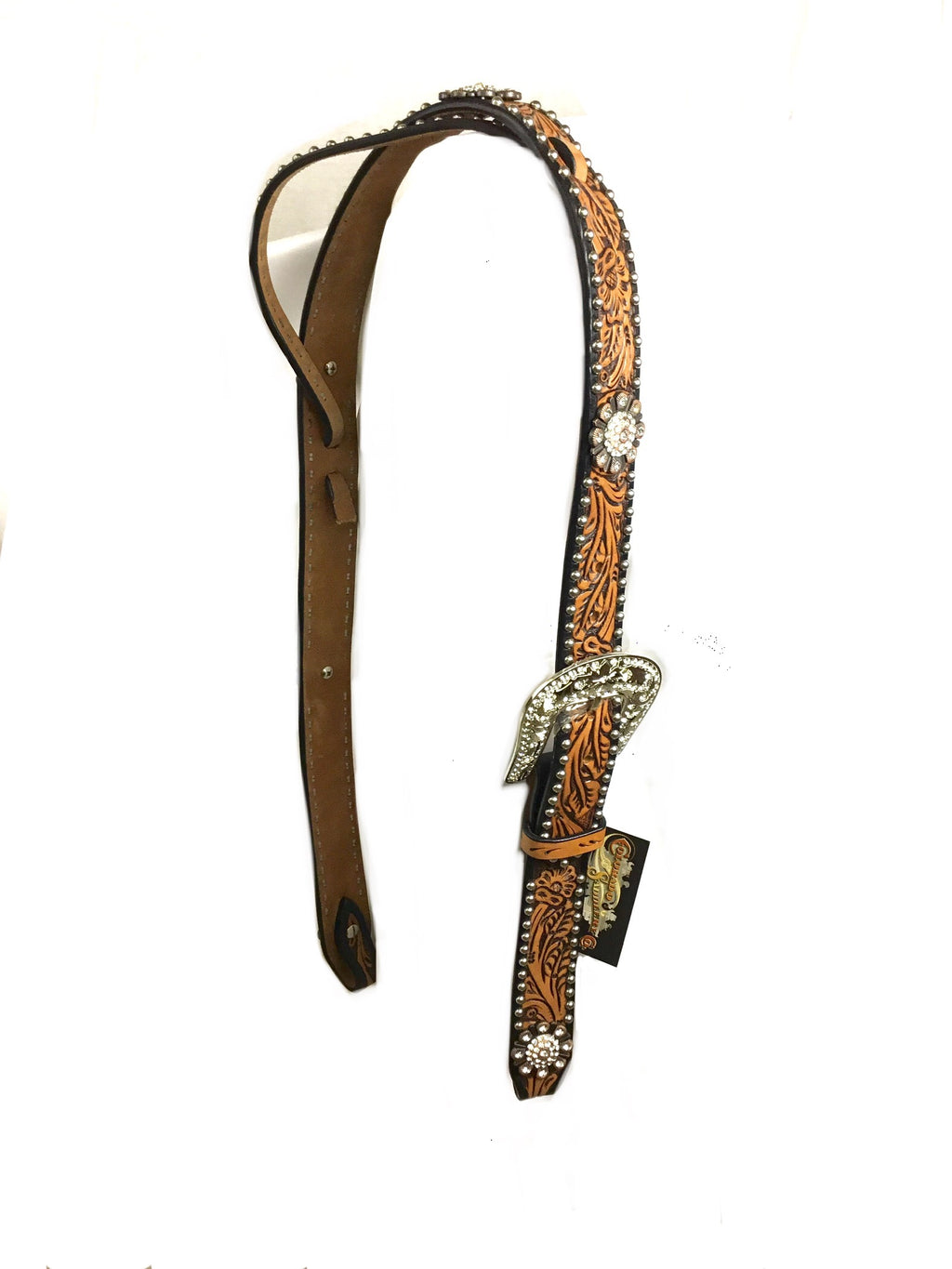 Brown Adjustable Belt Headstall