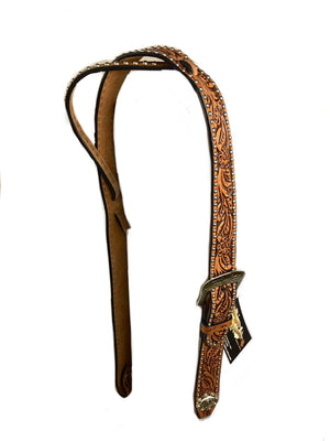 Floral Adjustable Belt Headstall