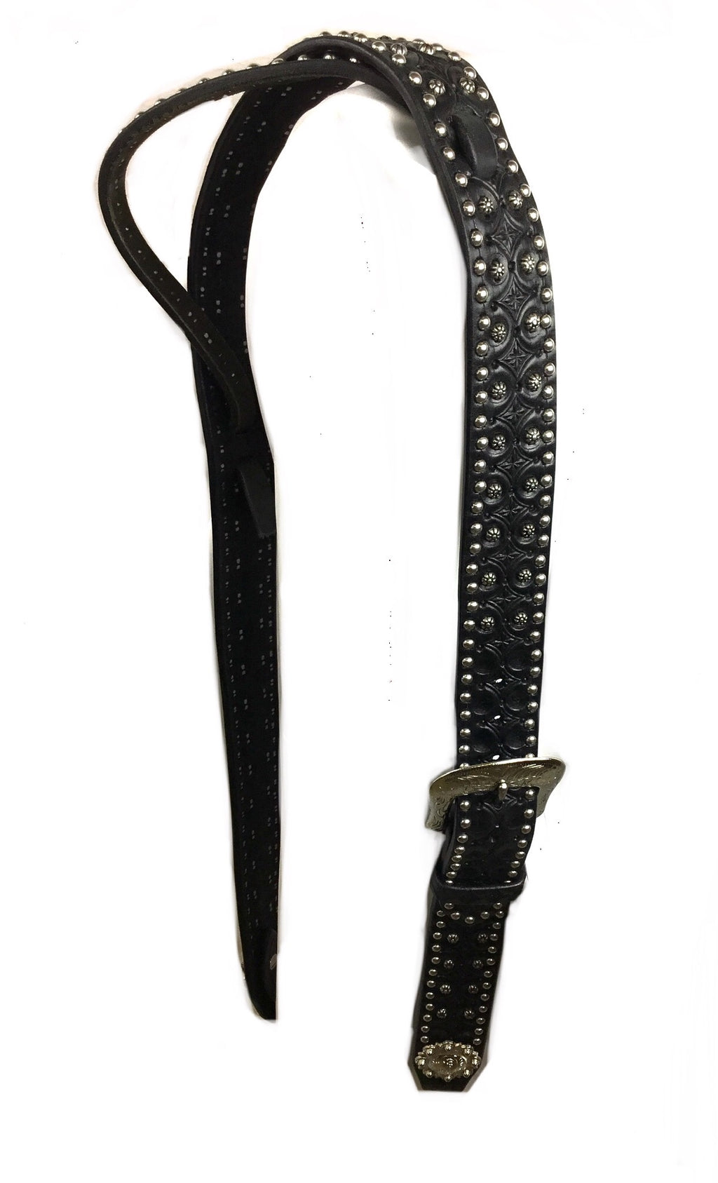 Black Adjustable Belt Headstall