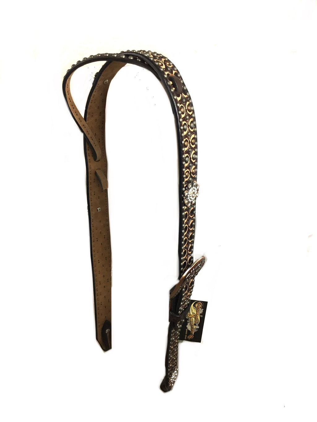 Two Toned Adjustable Belt Headstall