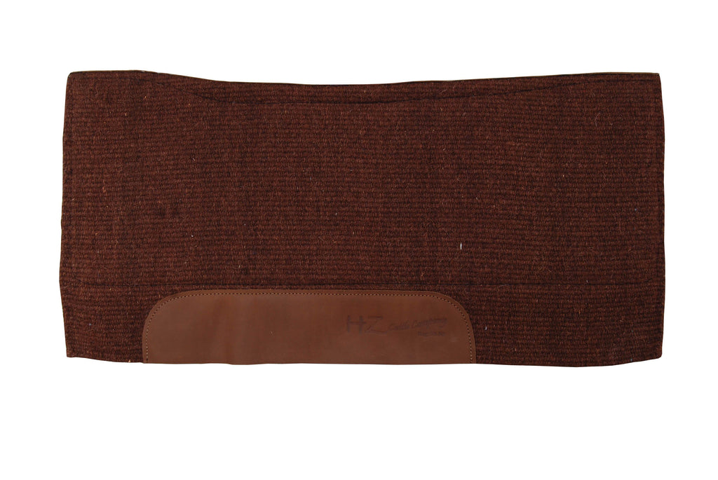 Spine Relief Contour Woven Blanket Saddle Pad with 100% Pressed Wool Bottom by HZ Cattle Company