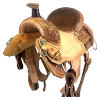 Deep Seat TM Roper Saddle with Matching Breast Collar
