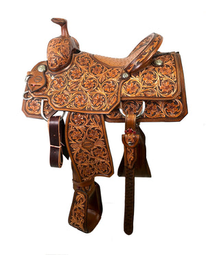 Deluxe Team Roper Saddle