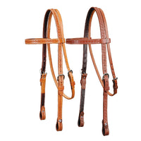 Basket Stamped Pony Headstall