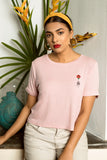 Savannah Rose Embroidered Tee