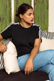 Ivy contrast Striped Tee
