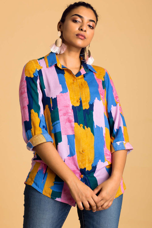 Abstracts Flowy Shirt
