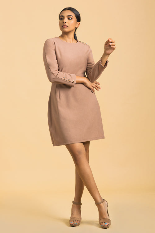 Long Sleeve Retro Dress