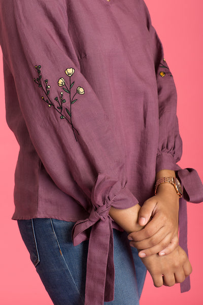 Chloe Embroidered  Top
