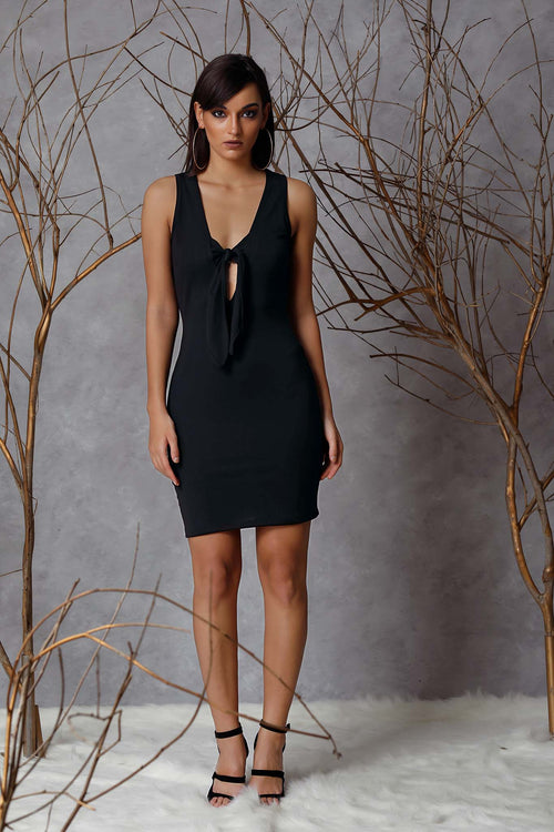 Front Tie Bodycon Dress