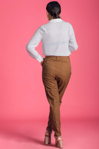 High Waist Knotted Pants