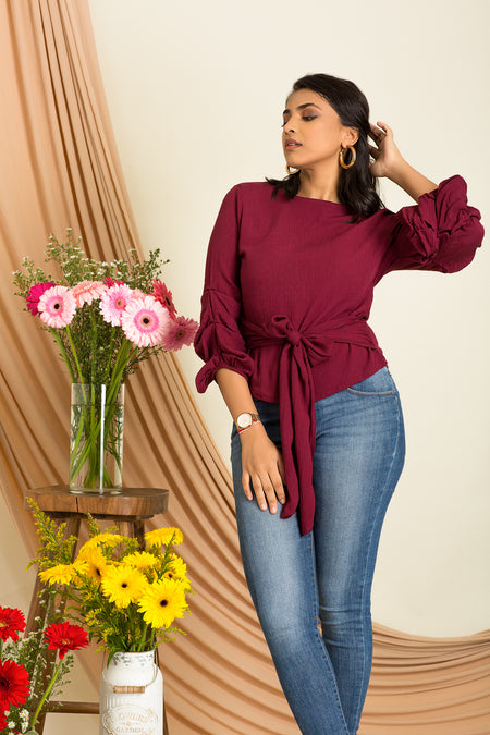 Cold Shoulder Long Top