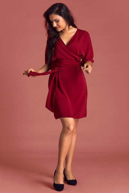 Bat Wing Sleeve Skater Dress