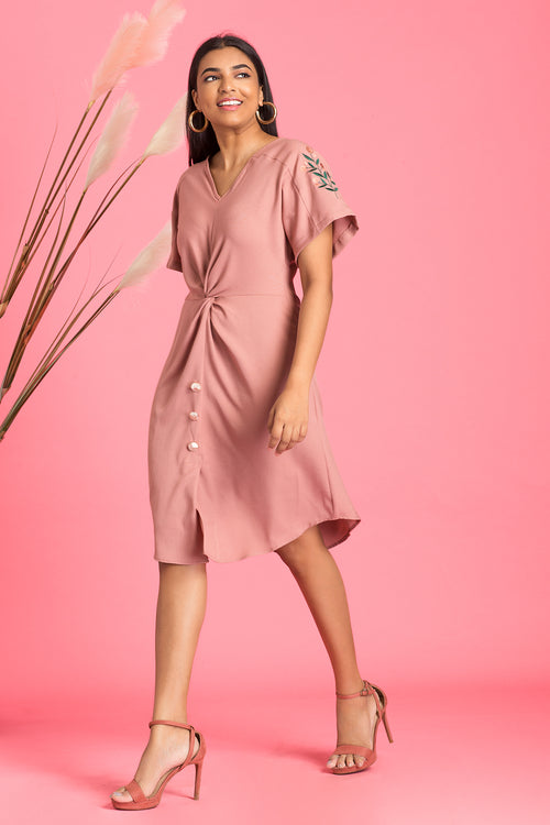 Rosella Front Knot Dress