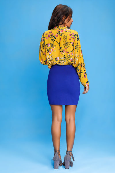 Assymetric Short Skirt