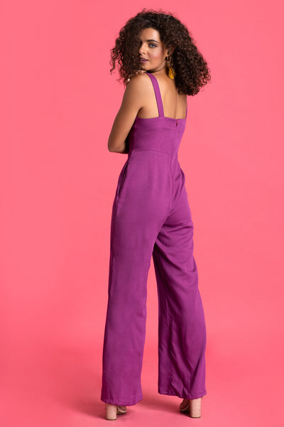 Casual Tie Up Jumpsuit