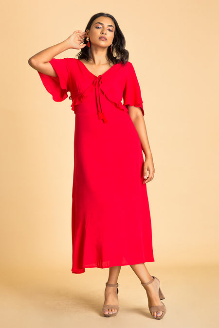 Asymmetrical Wrap Hem Dress