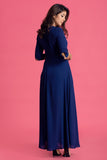Embelished Neckline Maxi Dress