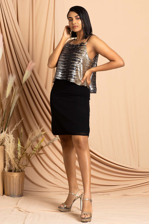 Sequin Double Layer Dress