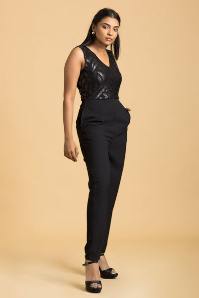 Lace V-Neck Jumpsuit