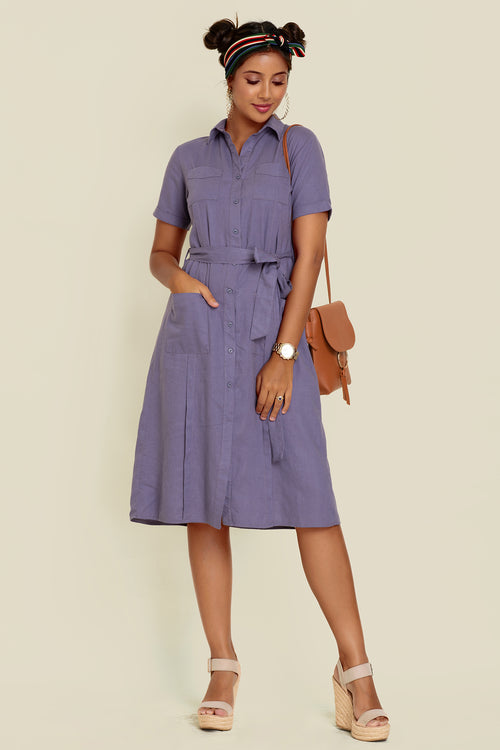 Pocket Detailed Shirt Dress