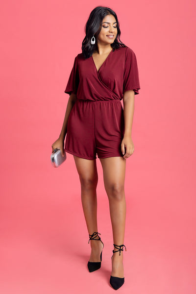 Back Detailed Romper