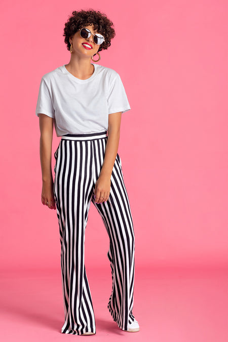 Dropped Shoulder Striped Shirt